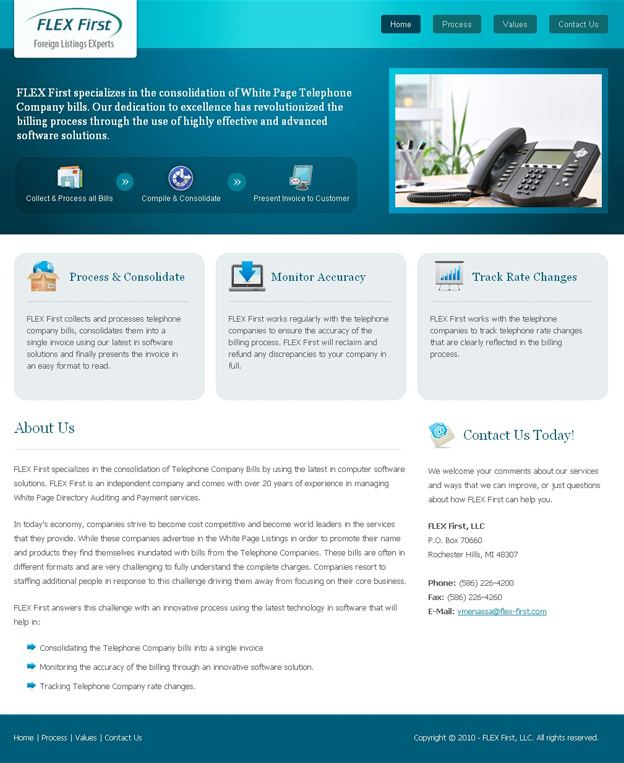 Projects: FLEX First, LLC Website Landing Page
